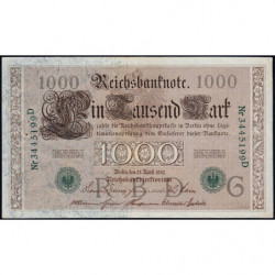 Allemagne - Pick 45b - 1'000 mark - 21/04/1910 (1921) - Lettre G - Série D - Etat : SUP