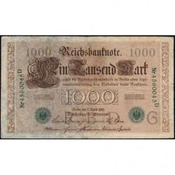 Allemagne - Pick 45b - 1'000 mark - 21/04/1910 (1921) - Lettre G - Série D - Etat : TB+