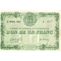 Chateauroux - Pirot 46-2-E - 1 franc - 1915 - Etat : SPL