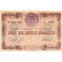 Chateauroux - Pirot 46-04-A - 2 francs - Etat : SUP