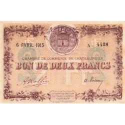Chateauroux - Pirot 46-4-A - 2 francs - 1915 - Etat : SUP