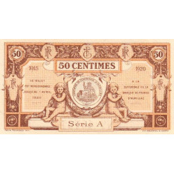 Aurillac (Cantal) - Pirot 16-1a - 50 centimes - Série A - 1915 - Etat : SPL