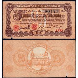 Allemagne - Notgeld - Aachen - 25 pfennig - 31/10/1918 - Etat : SUP