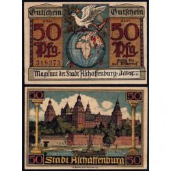Allemagne - Notgeld - Aschaffenburg - 50 pfennig - 1920 - Etat : NEUF