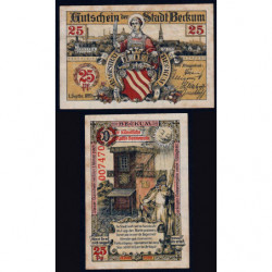Allemagne - Notgeld - Beckum - 25 pfennig - 01/09/1920 - Etat : TTB