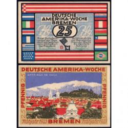 Allemagne - Notgeld - Bremen - Santiago du Chili - 25 pfennig - 1923 - Etat : SPL