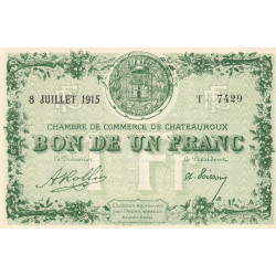 Chateauroux - Pirot 46-06-T - 1 franc - Etat : SPL+