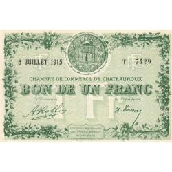 Chateauroux - Pirot 46-6 - 1 franc - Série T - 08/07/1915 - Etat : SPL+