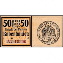 Allemagne - Notgeld - Babenhausen - 50 pfennig - 1918 - Etat : NEUF