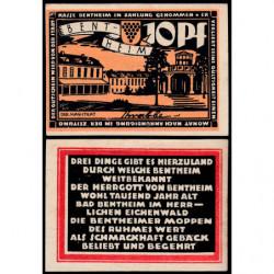 Allemagne - Notgeld - Bentheim - 10 pfennig - 1921 - Etat : NEUF
