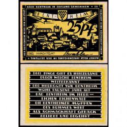 Allemagne - Notgeld - Bentheim - 25 pfennig - 1921 - Etat : NEUF