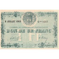 Chateauroux - Pirot 46-11-Q - 1 franc - 1915 - Etat : NEUF