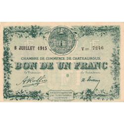 Chateauroux - Pirot 46-11-V - 1 franc - 1915 - Etat : SUP
