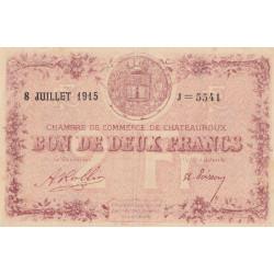 Chateauroux - Pirot 46-13 - 2 francs - Série J - 08/07/1915 - Etat : SUP