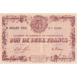 Chateauroux - Pirot 46-13-J - 2 francs - 1915 - Etat : SPL+