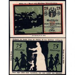 Allemagne - Notgeld - Berga an der Elster - 75 pfennig - 01/10/1921 - Etat : NEUF