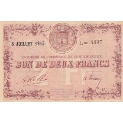 Chateauroux - Pirot 46-13 - 2 francs - Série L - 08/07/1915 - Etat : SUP