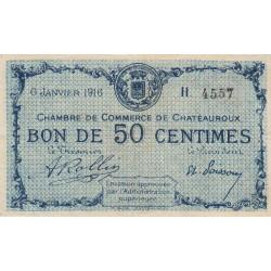 Chateauroux - Pirot 46-14 - 50 centimes - Série H - 06/01/1916 - Etat : TTB