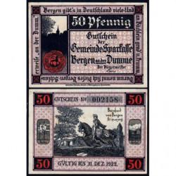 Allemagne - Notgeld - Bergen an der Dumme - 50 pfennig - 1921 - Etat : SPL