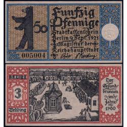 Allemagne - Notgeld - Berlin - 50 pfennig - 09/09/1921 - Etat : SPL