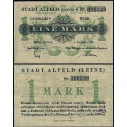 Allemagne - Notgeld - Alfeld - 1 mark - 01/12/1918 - Etat : SPL