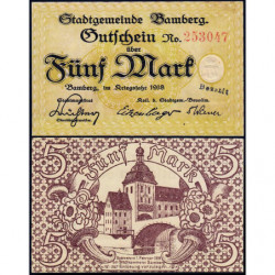 Allemagne - Notgeld - Bamberg - 5 mark - 1918 - Etat : NEUF