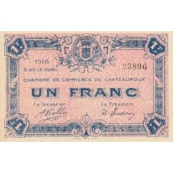Chateauroux - Pirot 46-19 - 1 franc - 1918 - Etat : SUP+