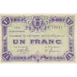 Chateauroux - Pirot 46-21 - 1 franc - 1919 - Etat : SUP+