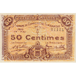 Chateauroux - Pirot 46-22 - 50 centimes - 10/05/1920 - Etat : SUP