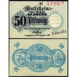Allemagne - Notgeld - Bamberg - 50 pfennig - 1917 - Etat : NEUF