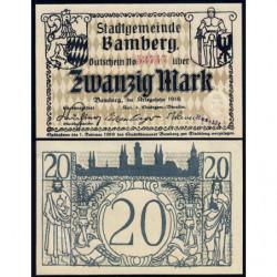 Allemagne - Notgeld - Bamberg - 20 mark - 1918 - Etat : NEUF
