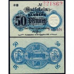 Allemagne - Notgeld - Bamberg - 50 pfennig - Série B - 1919 - Etat : NEUF