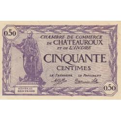 Chateauroux (Indre) - Pirot 46-24 - 50 centimes - 1920 - Etat : SPL