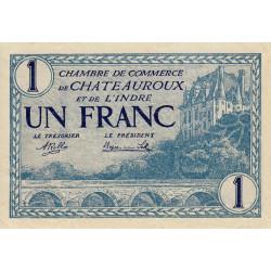 Chateauroux (Indre) - Pirot 46-26 - 1 franc - 1920 - Etat : SPL