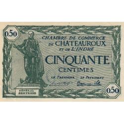 Chateauroux (Indre) - Pirot 46-28-A - 50 centimes - 1922 - Etat : SPL