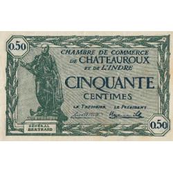Chateauroux (Indre) - Pirot 46-28 - 50 centimes - Série B - 03/02/1922 - Etat : TTB