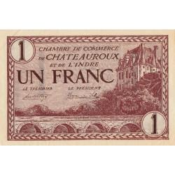 Chateauroux (Indre) - Pirot 46-30 - 1 franc - Série A - 03/02/1922 - Etat : SPL