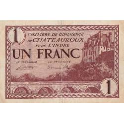 Chateauroux (Indre) - Pirot 46-30-C - 1 franc - 1922 - Etat : TB+