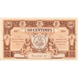 Aurillac (Cantal) - Pirot 16-1b-C - 50 centimes - 1915 - Etat : SPL