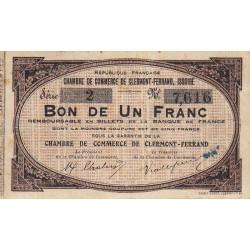 Clermont-Ferrand / Issoire - Pirot 48-1 - 1 franc - Série 1 - Sans date (1918) - Etat : TB+