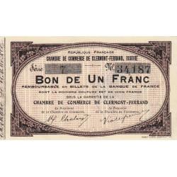 Clermont-Ferrand / Issoire - Pirot 48-1 - 1 franc - 1918 - Etat : SPL