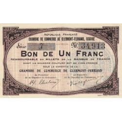 Clermont-Ferrand / Issoire - Pirot 48-1 - 1 franc - Série 7 - Sans date (1918) - Etat : SPL