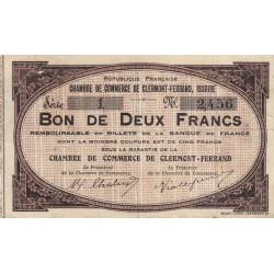 Clermont-Ferrand / Issoire - Pirot 48-2 - 2 francs - Série 1 - Sans date (1918) - Etat : TB+