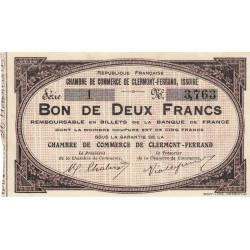 Clermont-Ferrand / Issoire - Pirot 48-2 - 2 francs - Série 1 - Sans date (1918) - Etat : SPL à NEUF