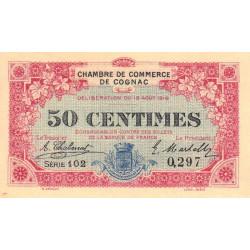 Cognac - Pirot 49-1 - 50 centimes - Série 102 - 19/08/1916 - Etat : SPL à NEUF