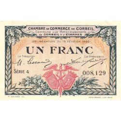 Corbeil - Pirot 50-3 - 1 franc - Série 4 - 16/02/1920 - Etat : SUP