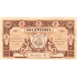 Aurillac (Cantal) - Pirot 16-1a - 50 centimes - Série D - 1915 - Etat : SUP