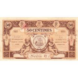 Aurillac (Cantal) - Pirot 16-1b - Série D- 50 centimes - 1915 - Etat : SUP