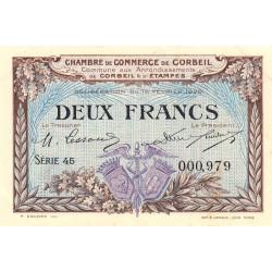 Corbeil - Pirot 50-5 - 2 francs - 1920 - Etat : SUP+