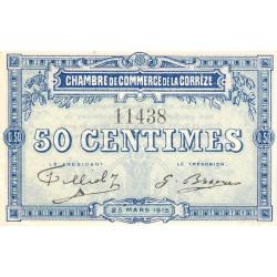 Corrèze / Tulle / Brive - Pirot 51-1 - 50 centimes - Sans série - 25/03/1915 - Etat : SPL